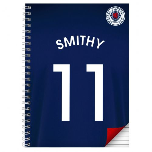 Personalised Rangers A4 Notebook
